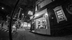 Little Cupcake Bakeshop (dansshots) Tags: dansshots nyc newyorkcity newyork nikon nikond750 rokinon wideangle rokinon12mm rokinon12mm28 fisheye bnw blackandwhite blackandwhitephotography blackandwhitenewyorkcity newyorkatnight littlecupcakebakeshop