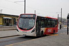 Rossendale 301 (SK66 HRE) (SelmerOrSelnec) Tags: rossendale rosso wright streetlite sk66hre rochdale bus routebranding