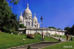 Le Sacré Coeur (flodub) Tags: sacrécoeur montmartre paris france romantisme extérieur architecture batiment building butte colline escalier stair