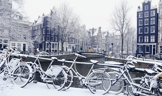 Picturesque winter of Amsterdam