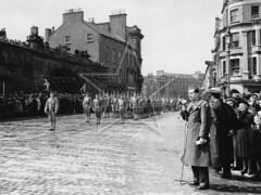 US Marines on parade in Derry / Londonderry May 1943 (G.I.N.I) Tags: usmarines usmc derry londonderry magazinegate shipquayplace waterlooplace northernireland ww2 1943 guildhallsquare guildhall marines usnob