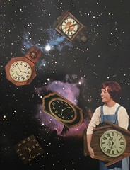 Time you enjoy wasting is not wasted time. (Deger Bakir collages) Tags: colagem retro surrealart surrealism surreality surreal sky stars old degerbakircollages cutandpaste graphicdesign graphic creative paperart kolaj collageartist joy fun galaxy cosmos space design clock time vintagewomen vintage artwork collageart collage artes arte art