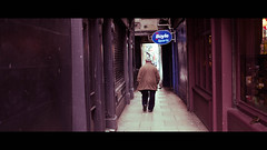 Dame Lane - Dublin, Ireland - Color street photography (Giuseppe Milo (www.pixael.com)) Tags: streetphotography lines dubiln composition cinematic street city faceless leading man urban candid lane ireland old walking dublin countydublin ie onsale