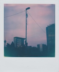 ghost town (germany) (polaroid.nawan) Tags: film dark polaroid sx70 wire spooky sphere instant ghosttown