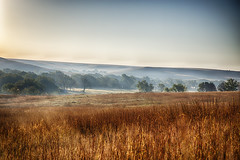 Morning Fog in the Flint Hills (Kansas Poetry (Patrick)) Tags: fog kansas flinthills tallgrassprairienationalpreserve patrickemerson nancylovespatrickofcourse