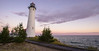 Crisp Point Lighthouse Sunrise (Eric Hines Photography) Tags: lighthouse clouds sunrise landscape michigan upperpeninsula lakesuperior r3d crisppointlighthouse redepicdragon