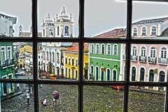 Pelourinho atras da janela em HDR (MahTagliaferri) Tags: brazil church rain brasil chuva paz igreja bahia salvador pace pioggia hdr brasile pelo pelourinho salvadordebahia fitas brasilhdr bahianidade