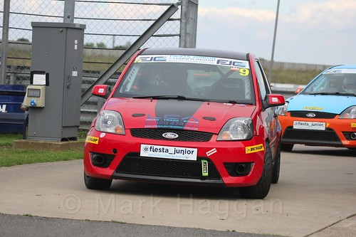 Bradley Burns after Race 2, Fiesta Junior Championship, Rockingham, Sept 2015