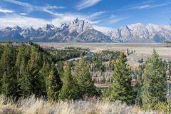 Snake River Overlook.jpg (JuSlaughter) Tags: park autumn trees usa mountain mountains tree fall america river us hole adams snake united grand jackson national states prairie grandtetons teton tetons overlook grassland grandteton ansel