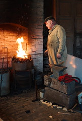 Blacksmith at Beamish (AlexRobson98) Tags: lens open sony air skills beamish blacksmith forge museam 2015 a65 heratage sal1650