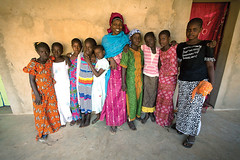 Community Based Solution Provider in Senegal, Hapsatou Ka, and her teenage mentorees whom she teaches about nutrition and hygiene practices