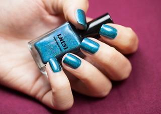 blue polish