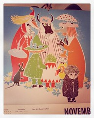 November on the Moomin calendar.  #calendar #moomins #toffle #whowillcomforttoffle #tovejansson (Nina A.J.) Tags: square calendar toaster squareformat moomin muumi moomintroll tovejansson moomins iphoneography instagramapp uploaded:by=instagram