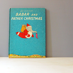 Babar and Father Christmas. (Kultur*) Tags: christmas elephant children book illustrated father first drawings books childrens fatherchristmas edition babar childrensbooks firstedition christmasbook babartheelephant brunhoff babarchristmas