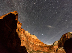 A Zion Starry Night (Dave Toussaint (www.photographersnature.com)) Tags: longexposure travel sky usa southwest nature night photoshop canon landscape star utah photo interestingness google interesting ut raw skies photographer image scenic picture clarity september explore cc moonlit adobe getty moonlight zionnationalpark slowshutterspeed milkyway adjust 2015 denoise topazlabs photographersnaturecom davetoussaint 5dmarkiii creativecloud