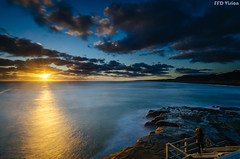 Golden Hour with You  (Mr F Ding) Tags: longexposure blue sunset sky sun seascape clouds golden nikon goldenhour 1224f4 platinumheartaward vsco