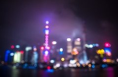 Shanghai neon (miemo) Tags: china city travel autumn urban mist abstract fall skyline night clouds buildings lights haze asia cityscape skyscrapers shanghai bokeh olympus neonlights bund highrises omd thebund olympus1240mmf28 em5mkii