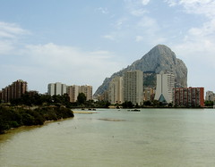 Calpe's Skyline Across the Salt Flats (Sierra02468) Tags: skyline salt flats calpe penyal difac