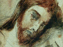 DELACROIX Eugène,1826 - Le Christ au Jardin des Oliviers, Eglise St-Paul-St-Louis, Paris, Etude (drawing, dessin, disegno-Louvre RF23325) - Detail 46 (L'art au présent) Tags: drawing dessins dessin disegno personnage figure figures people personnes art painter peintre details détail détails detalles 19th 19e dessins19e 19thcenturydrawing 19thcentury detailsofdrawing detailsofdrawingdessins croquis étude study sketch sketches tableaux louvre museum eugènedelacroix eugène delacroix france lechristaujardindesoliviers christinthegardenofgethsemane gardenofgethsemane christ jardindesoliviers aquarelle watercour watercolor man men homme romantic romantique romantisme romanticism romance armes weapons soldats soldiers rocher rock nuit night ombre shaddow paris