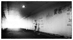 the running boy (Keith Midson) Tags: underpass tunnel path boy running utas sandybay sigma 24mm