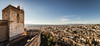 Panoramic View of the Alcazaba Watch-Tower, Alhambra (chrisgj6) Tags: palaces unesco alcazaba worldheritage palace watchtower panoramic andalusia alhambra architecture city panorama nasrid spain granada