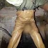 Chameau-oliv-Kanal0980.B (Kanalgummi) Tags: sewer exploration rubber waders chestwaders wathose worker égoutier kanalarbeiter bomber jacket bomberjacke