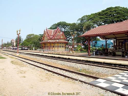 Hua Hin Railway Station in 2015, Hua Hin, Prachuap Khiri Khan Province, Thailand.