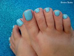 Top Beauty - Flor Azul do Cerrado (Barbara Nichols (Babi)) Tags: tb topbeauty azul blue bluenailpolish azulclaro florazuldocerrado nails pés feet foot polis nailpolish
