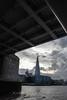Under Tower Bridge (marktmcn) Tags: under tower bridge river thames london shard building skyscaper structures clouds d80 nikkor 18135mm framed view