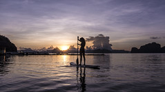 Sup Girl (Snirk) Tags: philippines sunrise girl silhouette elnido palawan miniloc sup standup paddleboard landscape
