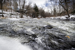 The Icy Flow, 2015.12.15 (Aaron Glenn Campbell) Tags: lehighriver thornhurst coolbaughtownship lackawannacounty poconos pennsylvania outdoors cloudy overcast river water snow ice frozen optoutside meetthemoment sony a6000 ilce6000 mirrorless rokinon 12mmf2ncs wideangle primelens manualfocus tiffen cpfilter circularpolarizer