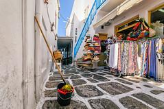 Mop & Bucket (Kevin R Thornton) Tags: mop nikon travel street bucket mediterranean greece mykonos d90 mikonos egeo gr