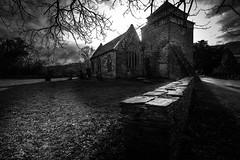 St Bridgets Church (Wayne Hodge) Tags: church gothic bw mono doom moody haunting graveyards