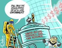 0117 davis besse loss cartoon (DSL art and photos) Tags: editorialcartoon donlee davisbesse firstenergy fenoc nuclear power economy ottawacounty ohio