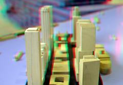 maquette Kop van Zuid Rotterdam 3D (wim hoppenbrouwers) Tags: maquette kopvanzuid rotterdam 3d anaglyph stereo redcyan museumrotterdam hoogbouw
