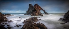 Bold Bow Fiddle (Augmented Reality Images (Getty Contributor)) Tags: bowfiddlerock canon clouds coastline landscape leefilters longexposure morayshire panorama portknockie rocks scotland seascape water waves