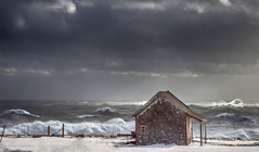 So Close (Danny VB) Tags: canon 6d winter snow storm wind waves house sun sky clouds mothernature