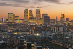 Canary Wharf (www.javierayala-photography.com) Tags: canarywharf onecanadasquare sunset london londres england inglaterra view uk unitedkingdom buildings cityscape golden wow