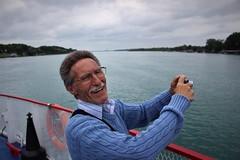 John-Pierre (Matthew Crake) Tags: grandfather onthewater boat cloudy camera
