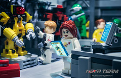 A.R.C. Bot Maintenance (Agaethon29) Tags: lego afol legography brickography legophotography minifig minifigs minifigure minifigures toy toyphotography macro cinematic 2017 legospace neoclassicspace spaceman classicspace space scifi sciencefiction ncs novateam customminifigure moc robot