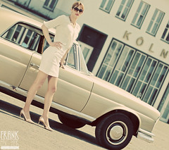 Lana (Vintage S-Class) Tags: mercedes benz mercedesbenz 220seb 220 w111 sklasse sclass 1965 auto car oldtimer vintage köln butzweilerhof outdoor public portrait babe frau girl wife woman female pretty beauty beautiful sexy beine legs busen titten brüste tits breasts boobs eyes lips milf nylon
