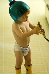 'grrrr!!!' (Ben McLeod) Tags: toy funny alligator liam diapers 85mmf14d