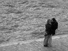 102877 (CHEN_Zheng) Tags: bw paris love seine kiss lover ruili