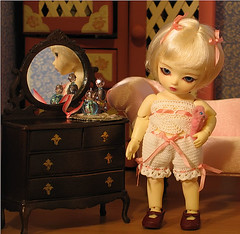 Getting ready for bed (biscuitbear) Tags: toy doll bjd bluefairy pocketfairy