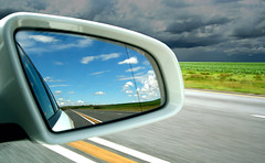 When things are going well... (j.dubb) Tags: road reflection topf25 clouds southafrica mirror johannesburg
