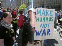 Simple Sign Chicks Anti-War Protesters (Whiskeygonebad) Tags: nyc iran iraq 911 antiwar nyu chicks democrats hummus protesters republicans nukes communists socialists peacerally leftists moonbats peaceactivists