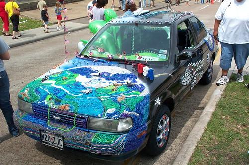amazing mosaic car by Rodny Dioxin