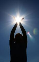 Catching Sunshine 1 (giagia) Tags: blue sun sunshine flare popular deleteit saveit deleteit2 saveit3 deleteit3 deleteit