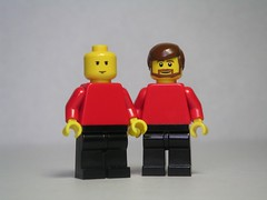Jean-Luc Picard and Will Riker (Dunechaser) Tags: startrek lego scifi sciencefiction minifig minifigs captainpicard enterprise  numberone patrickstewart jeanlucpicard   jonathanfrakes willriker