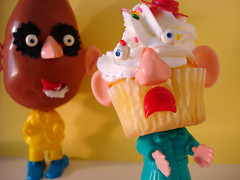 the better to eat you with, katie cupcake head (Super*Junk) Tags: toys potato cupcake stupid produce mrpotatohead 1970 hasbro cannibalism katiecupcakehead